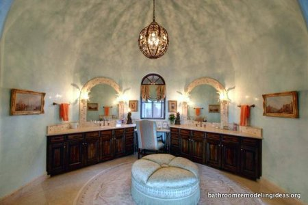Symmetrical Bathroom with Dome