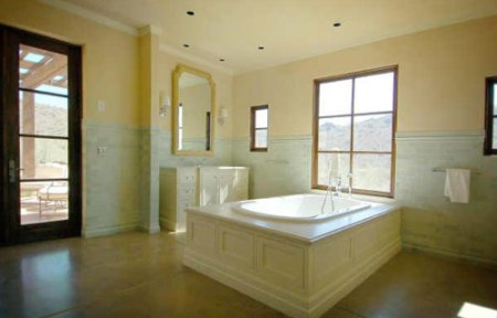 Bathroom w/ Poured Concrete Floors