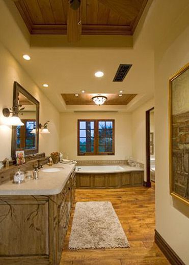 Hardwood Floor In Bathroom cherry wide plank wood flooring Bathroom W Hardwood Floor